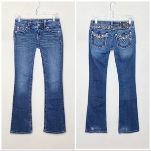 Miss Me Signature Bootcut Jeans Sparkly